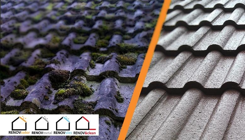 """Renover sa toiture avec RENOVcolor, c'est la garantie d'une excelente tenue dans le temps et de teinte """"comme à l'origine"""""""
